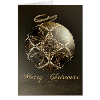 Cartes Élégance en bronze--Noël