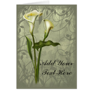Cartes Élégance florale de calla