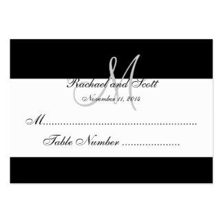 Cartes élégantes d'allocation des places de mariag cartes de visite professionnelles