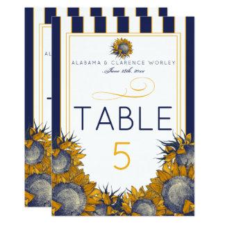 Cartes élégantes de nombre de Tableau de tournesol Carton D'invitation 12,7 Cm X 17,78 Cm