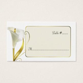Cartes élégantes de place de réception de mariage