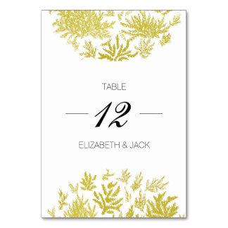 Cartes élégantes de Tableau de mariage d'or