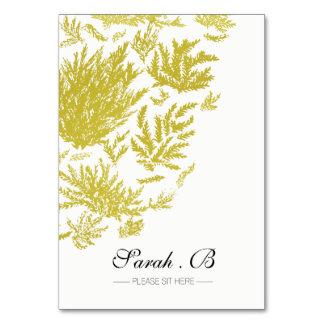 Cartes élégantes d'endroit de mariage d'or
