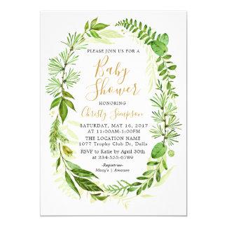 Cartes élégantes d'invitation de baby shower de