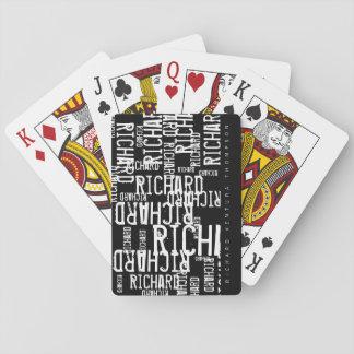 cartes élégantes/modernes du cool, de b/w de jeu jeux de cartes