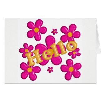 Cartes Élément rose floral. Bonjour