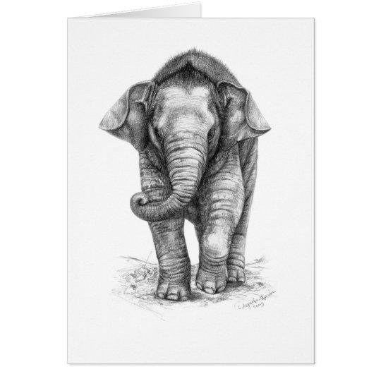 Cartes Elephant Baby design by Schukina G046