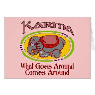 Cartes Éléphant de karma