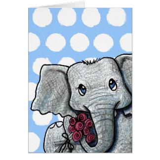 Cartes Éléphant de KiniArt