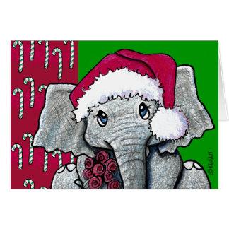 Cartes Éléphant de KiniArt Père Noël