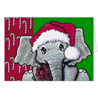 Cartes Éléphant de Père Noël