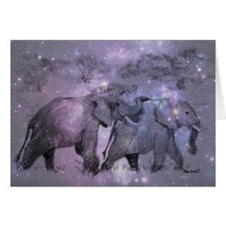 Cartes Éléphants en hiver personnalisable
