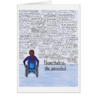 Cartes Elle a persisté (le fauteuil roulant)
