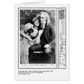 Cartes Ellen Terry et Henry Irving dans le curé de