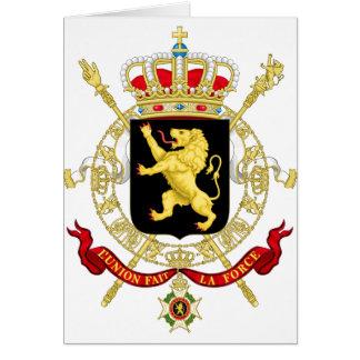 Cartes Emblème belge - manteau des bras de la Belgique