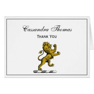 Cartes Emblème debout C de crête de lion héraldique