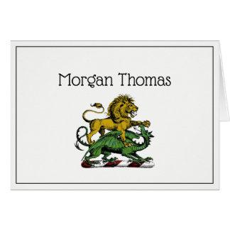 Cartes Emblème héraldique de crête de lion et de dragon
