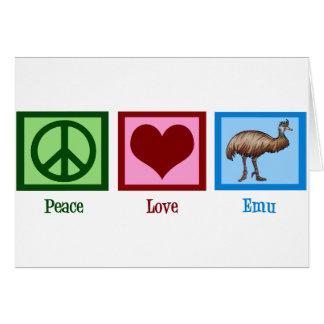 Cartes Émeu d'amour de paix