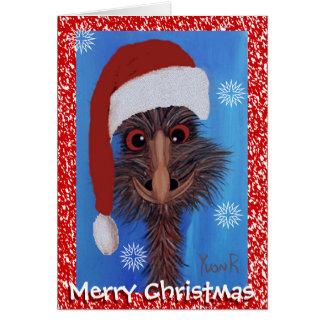Cartes Émeu de Joyeux Noël