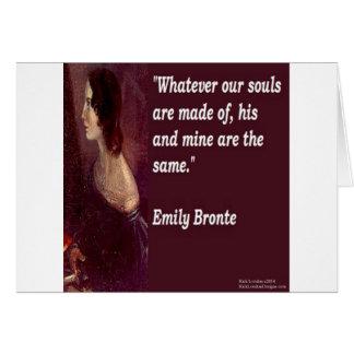 Cartes Emily Bronte et célèbre notre citation d'âmes