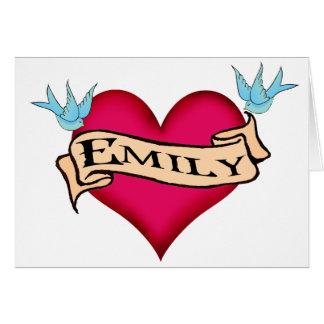 Cartes Emily - T-shirts et cadeaux faits sur commande de