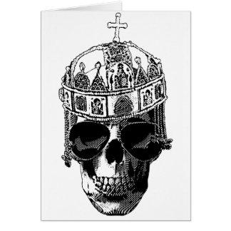 Cartes Empereur bizantin mort avec des lunettes de soleil