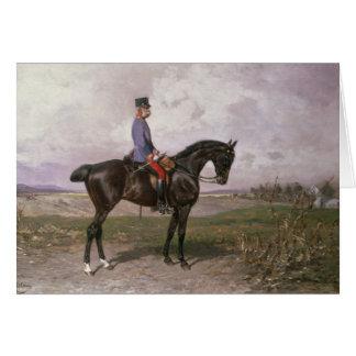 Cartes Empereur Franz Joseph I sur son cheval autrichien