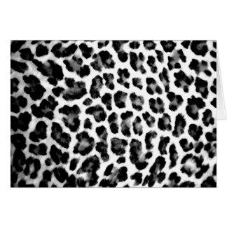 Cartes Empreinte de léopard noir et blanc