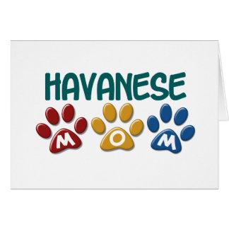 Cartes Empreinte de patte 1 de maman de HAVANESE