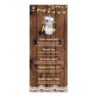 Cartes en bois de dentelle de pot floral de