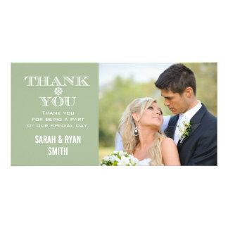 Cartes en bon état de Merci de photo de mariage de Carte Avec Photo