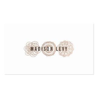 Cartes en bronze de rendez-vous de styliste de carte de visite standard