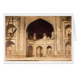 Cartes En dehors du Taj Mahal, illustré probablement dans