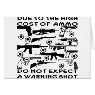 Cartes En raison du coût élevé de munitions aucun coup de
