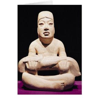 Cartes En tailleur chiffre tenant un bébé, Olmec