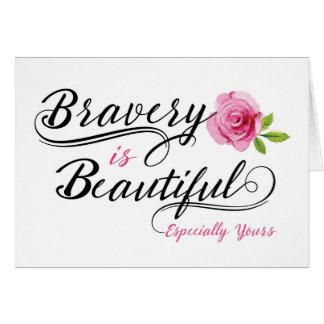 Cartes Encouragement de malade du cancer - la bravoure