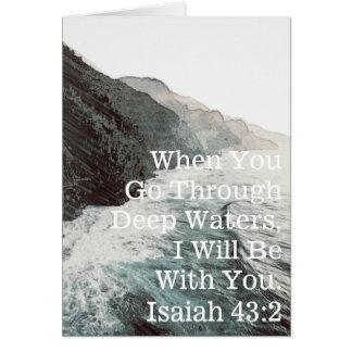 Cartes Encouragement d'Isaïe (blanc à l'intérieur)