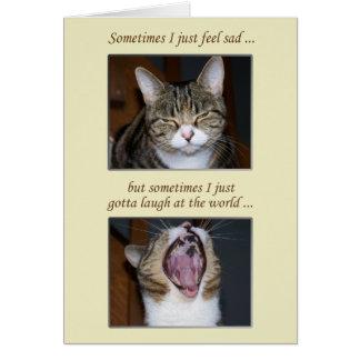 Cartes Encouragement pour une maladie, chat mignon