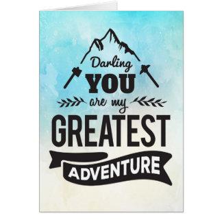 Cartes Encouragement - vous êtes ma plus grande aventure