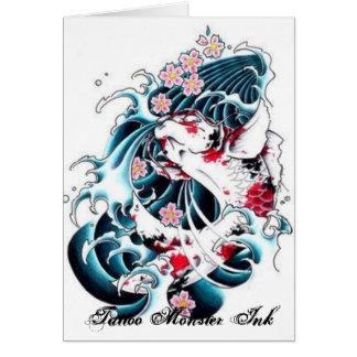Cartes Encre de monstre de tatouage