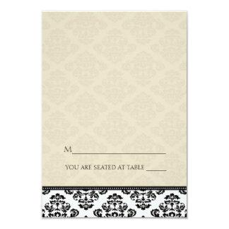 Cartes enes ivoire se pliantes d'endroit de cartons d'invitation personnalisés