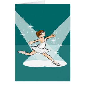 Cartes Enfant danse ballet sous les foyers d'illumination