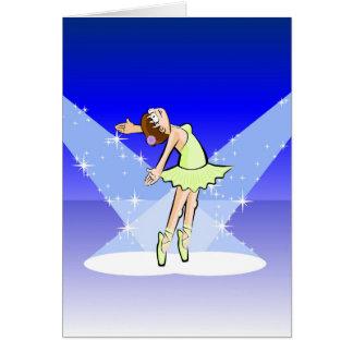 Cartes Enfant en dansant ballet illuminé par son glamour