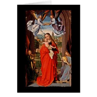 Cartes Enfant et anges de Madonna le Christ