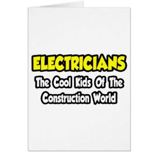 Cartes Enfants frais d'électriciens… de monde de