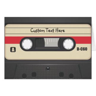 Cartes Enregistreur à cassettes - rouge de coucher du