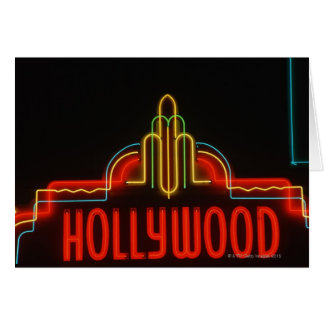 Cartes Enseigne au néon de Hollywood, Los Angeles, la