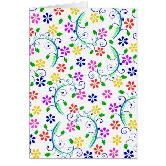 Cartes Ensemble tourbillonnant floral lumineux et coloré