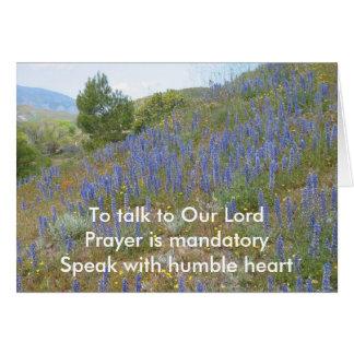 Cartes Entretien à seigneur Haiku Card