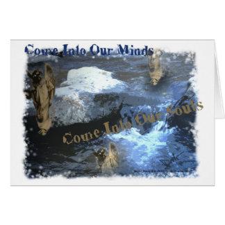 Cartes Entrez dans nos esprits entrent dans nos âmes